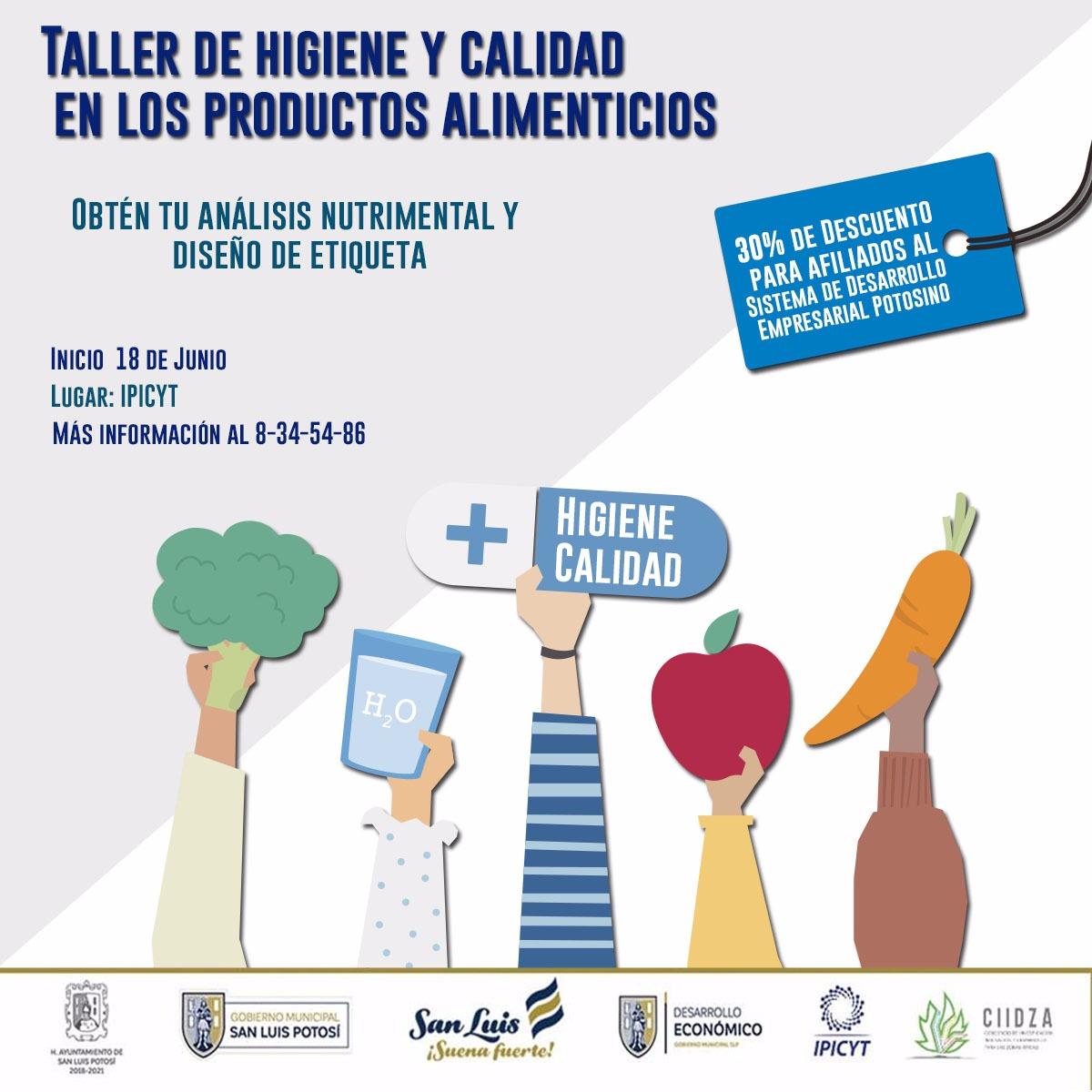 Taller de Higiene y Calidad en los Productos Alimenticios